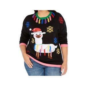Derek Heart Trendy Tassel-Trim Llama Sweater